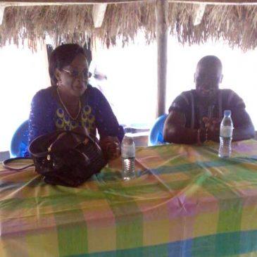 Visite au village de Kodzé de Mme le Préfet d'Agou !