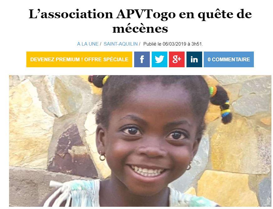 ouest france - L'association APVTogo en quête de mécènes